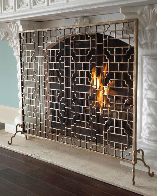 Single-Panel Fireplace Screen fireplaces