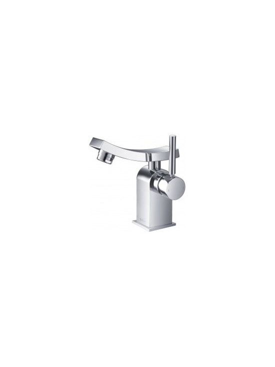 Kraus Unicus Single Lever Basin Faucet KEF-14301 - One of a kind design, sleek lines in a bright polished chrome appearance brings an implied look to any bathroom decor