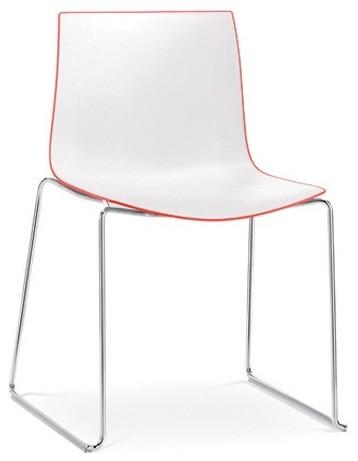 arper catifa 46 stuhl zweifarbig mit kufengestell. Black Bedroom Furniture Sets. Home Design Ideas