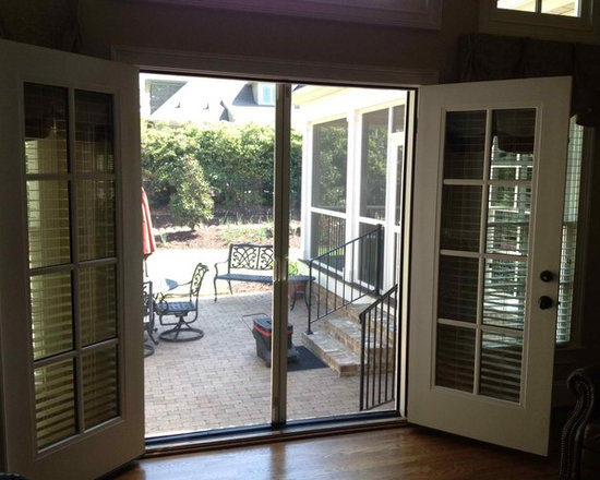 double French doors -