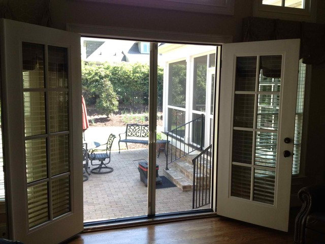 Double french doors for Screen doors for french doors