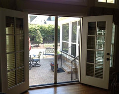 How you would do your patio doors for this home for Do french doors have screens