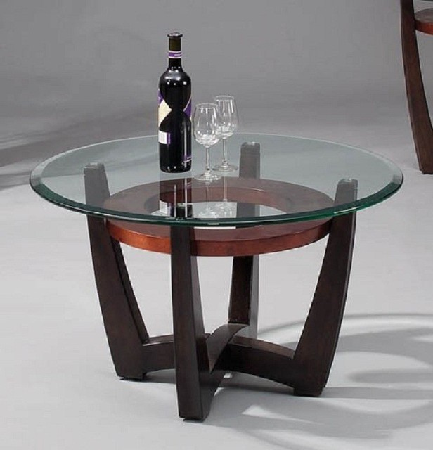Bassett Mirror Elation Round Cocktail Table T1078 120 033 Traditional Coffee Tables