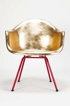 Eames Golden A Shell eclectic chairs
