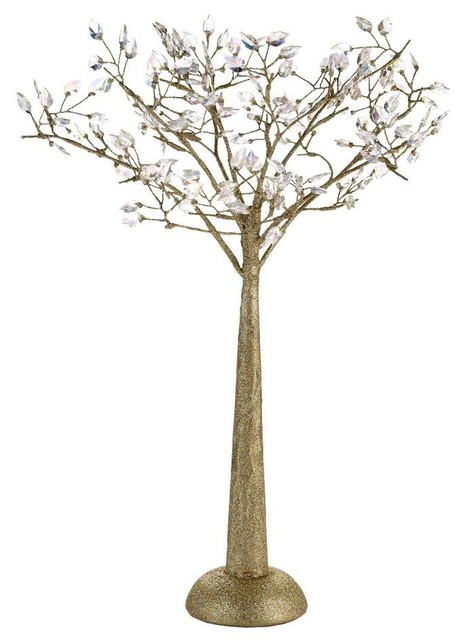 Jeweled Leaf Gold Tree contemporary-christmas-decorations