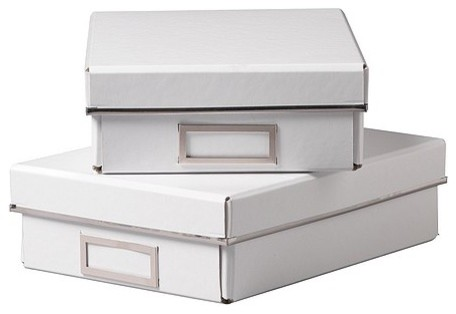 KASSETT Box with lid for paper - Contemporary - Storage Bins And Boxes - by IKEA