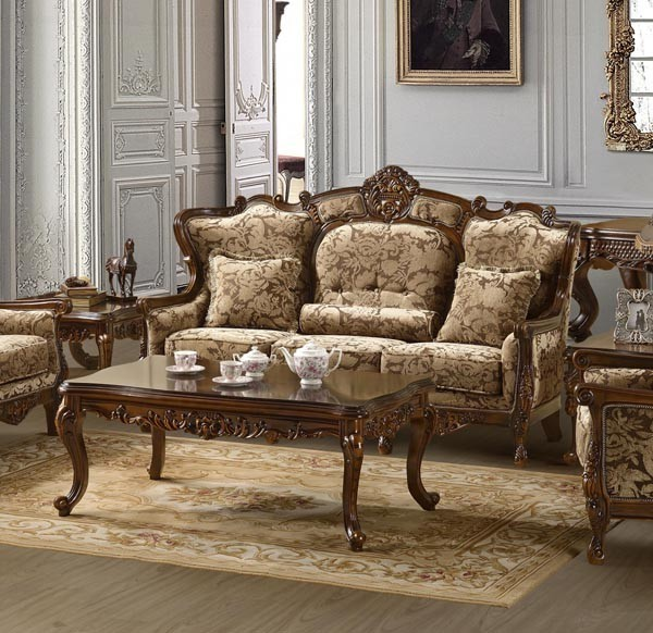 Homey Design - Hyeres 2 Piece Living Room Set - HD-839SL traditional-upholstery-fabric