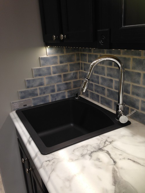 Fabulous How to end edges of backsplash . . . without bullnose tile . . . NX14