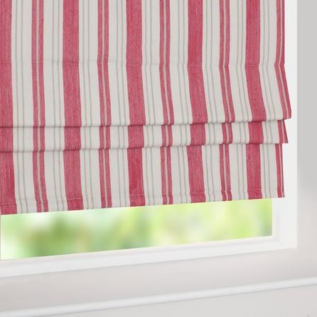 Red New Haven Roman Blind Traditional Roman Shades
