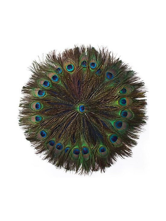 Peacock Placemats, Set of 4 -