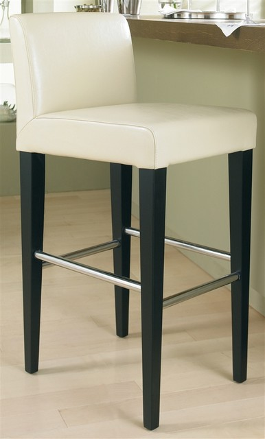Oriana Barstools In Cream W Black Tapered Legs