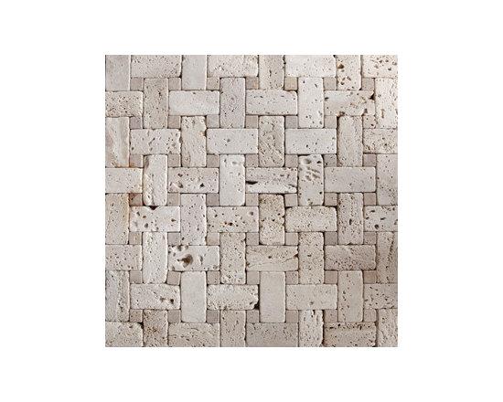 Basket Travertine Tumbled Natural Stone Mosaic -