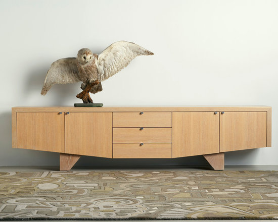 Sidecases, angela adams by Sherwood Hamill furniture line - A modern form with a driftwood feel. Four cabinet bays and three drawers provide generous storage space for living or dining. The Sea Chest sidecase is designed by Sherwood Hamill, co-founder of angela adams, and is handcrafted in Portland, Maine. Shown here in Sand.