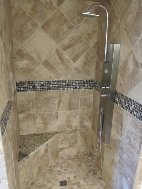 Bathroom Shower Remodel Project Modern Dallas By The