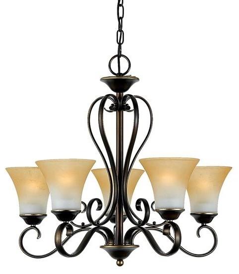 5 Light Chandelier modern-chandeliers