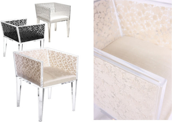 Acrylic Floral Lace Chair modern-furniture