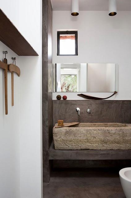 Bathroom Sinks Antique Limestone and Marble (Mediterranean style) mediterranean-bathroom-sinks
