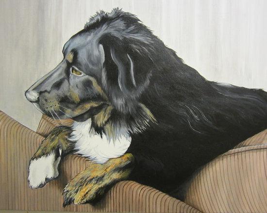 "Original Artwork - ""Dali"" pet portrait (oil) -"