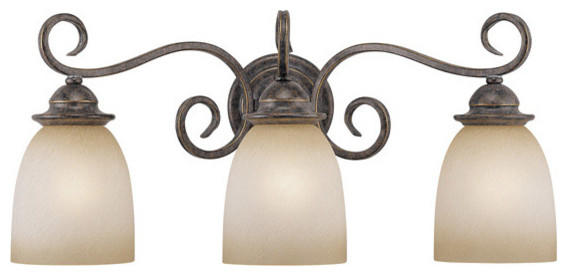 Mont Blanc Aztec Bronze 3 Light Vanity traditional-bathroom-vanity-lighting