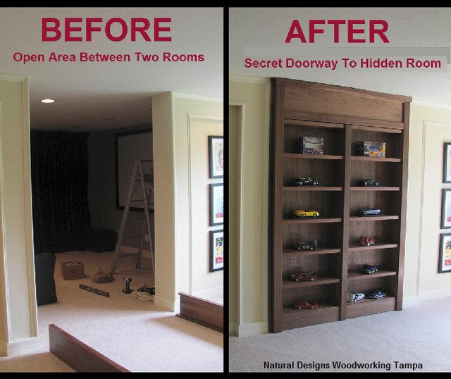 Cabinet With Secret Doorway To Hidden Room - Contemporary - tampa - by Natural Designs Inc.