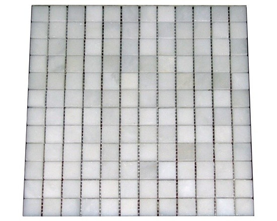 1 in. x 1 in. Bianco White Polished Square Pattern Mesh-Mounted Marble Mosaic Ti - 1 in. x 1 in. Bianco White Mesh-Mounted Square Pattern Marble Mosaic Tile is a great way to enhance your decor with a traditional aesthetic touch. This Polished Mosaic Tile is constructed from durable, impervious Marble material, comes in a smooth, unglazed finish and is suitable for installation on floors, walls and countertops in commercial and residential spaces such as bathrooms and kitchens.
