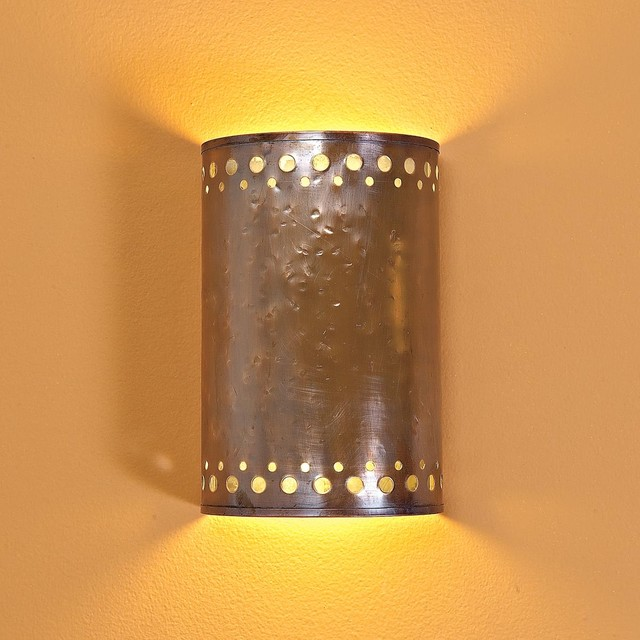 Hammered Copper Indoor Wall Sconce - Wall Sconces - by Shades of Light
