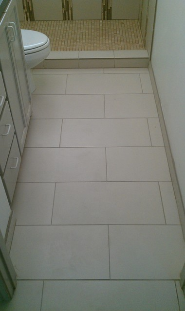 "Floor - 12"" x 24"" Porcelain Tile on Offset Pattern contemporary ..."