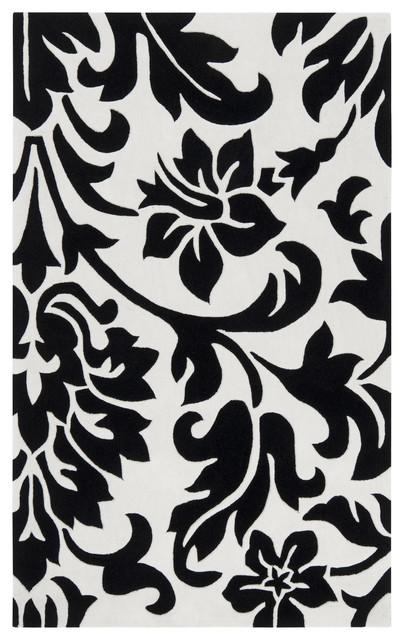 Surya Cosmopolitan COS-9062 (White, Coal) 9' x 13' Rug contemporary-rugs