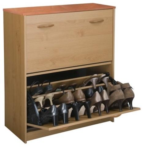 Spartak Double Level Shoe Storage Cabinet - contemporary