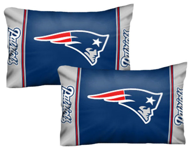 Nfl new england patriots pillowcases football logo bedding - New england patriots bedroom accessories ...