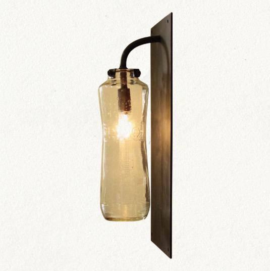 Wall Sconces With Glass : Recycled Glass Sconce eclectic-wall-sconces
