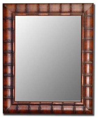 Fruitwood Bamboo Wall Mirror modern-mirrors