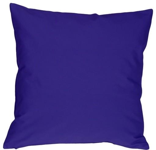Pillow Decor - Caravan Cotton Royal Blue 16 x 16 Throw Pillow - Contemporary - Decorative ...