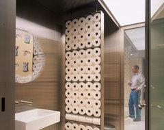 Four Seasons Art Loft contemporary-powder-room