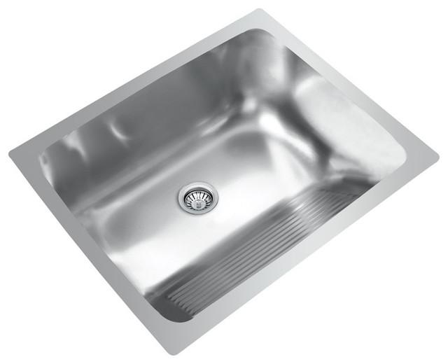 ... Bowl Stainless Steel Laundry Sink - Modern - Kitchen Sinks - by Ukinox