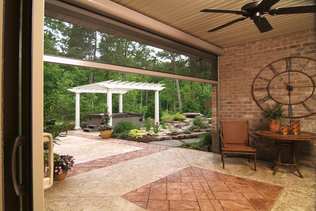 Retractable patio lanai screens traditional gazebos for Lanai structure
