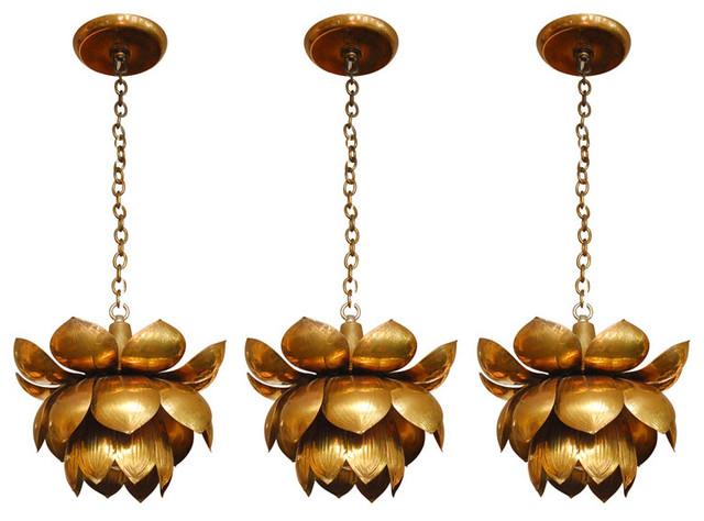 Brass Lotus Chandelier modern-chandeliers