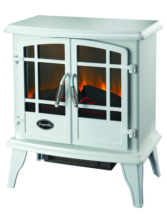 """The Keystone Electric Stove in White - Dimensions: 21""""H x 22""""W x 12.4""""D"""