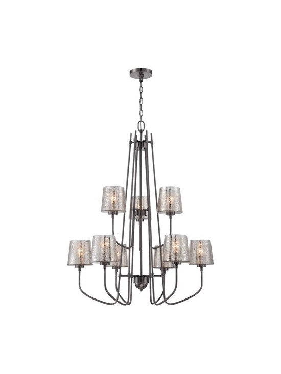 Varaluz - Varaluz   Meridian 9 Light Chandelier - Design by Ron Henderson, 2014.