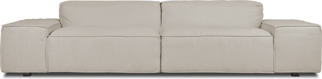 Wembley Light Grey 3 Seat Couch modern-living-room-chairs