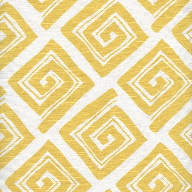Tailored King Sham Maze Corn Yellow contemporary-shams