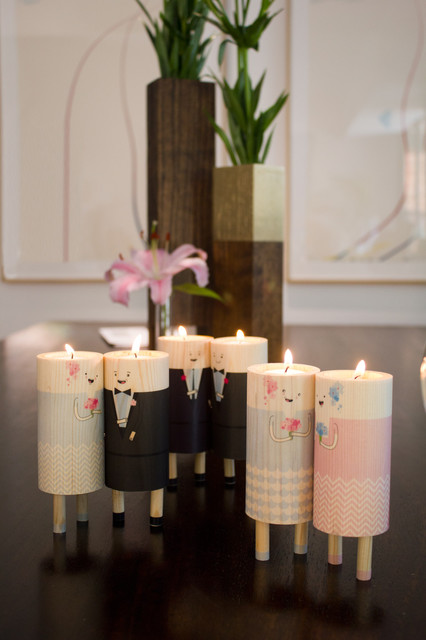 We Do. Tealight holders. contemporary-candles-and-candleholders