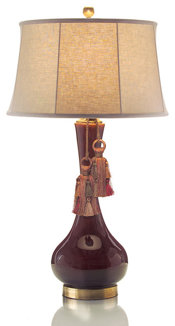 John Richard 36'' Bordeaux Ceramic Lamp contemporary-table-lamps