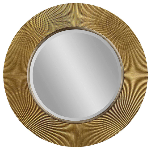 Gold Silver Round Wall Mirror Modern Mirrors By