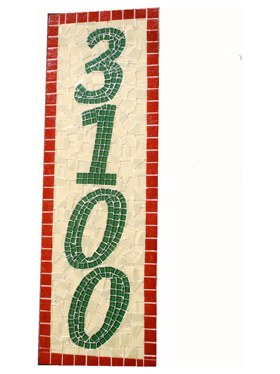 Mosaic House Numbers -