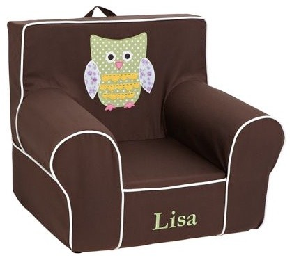Owl Applique Floral Anywhere Chair Modern Kids Chairs