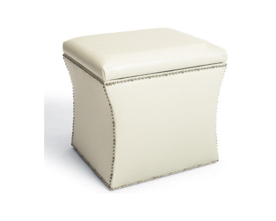 Grandin Road - Classico Storage Ottoman - Add storage and extra seating, instantly. Crafted from durable leatherette for quality without the high price. Sleek and functional design complements any decor. Handsome hand-applied nailhead trim. Our versatile and sophisticated Classico Storage Ottoman simultaneously adds storage space and extra seating. Crafted from faux leather with a cushioned seat/lid, our versatile and sophisticated Classico Storage Ottoman simultaneously adds storage space and extra seating. Crafted from faux leather with a hand-applied nailhead trim.. . . . Made in the USA.