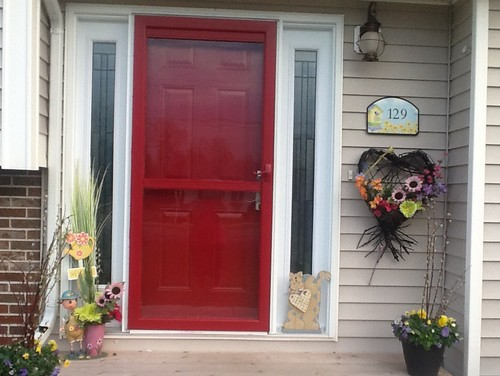 Paint Colour On Storm Door And Sidelights