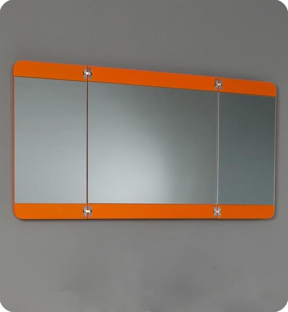 """36"""" Energia Modern Bathroom Vanity with Mirror - Orange (FVN5092OR) modern"""