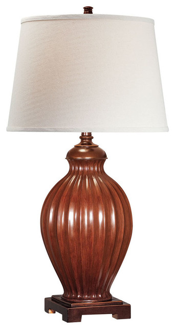 Table Lamp, Two Tone/Off-White Fabric Shade, E27 A 150W traditional-table-lamps